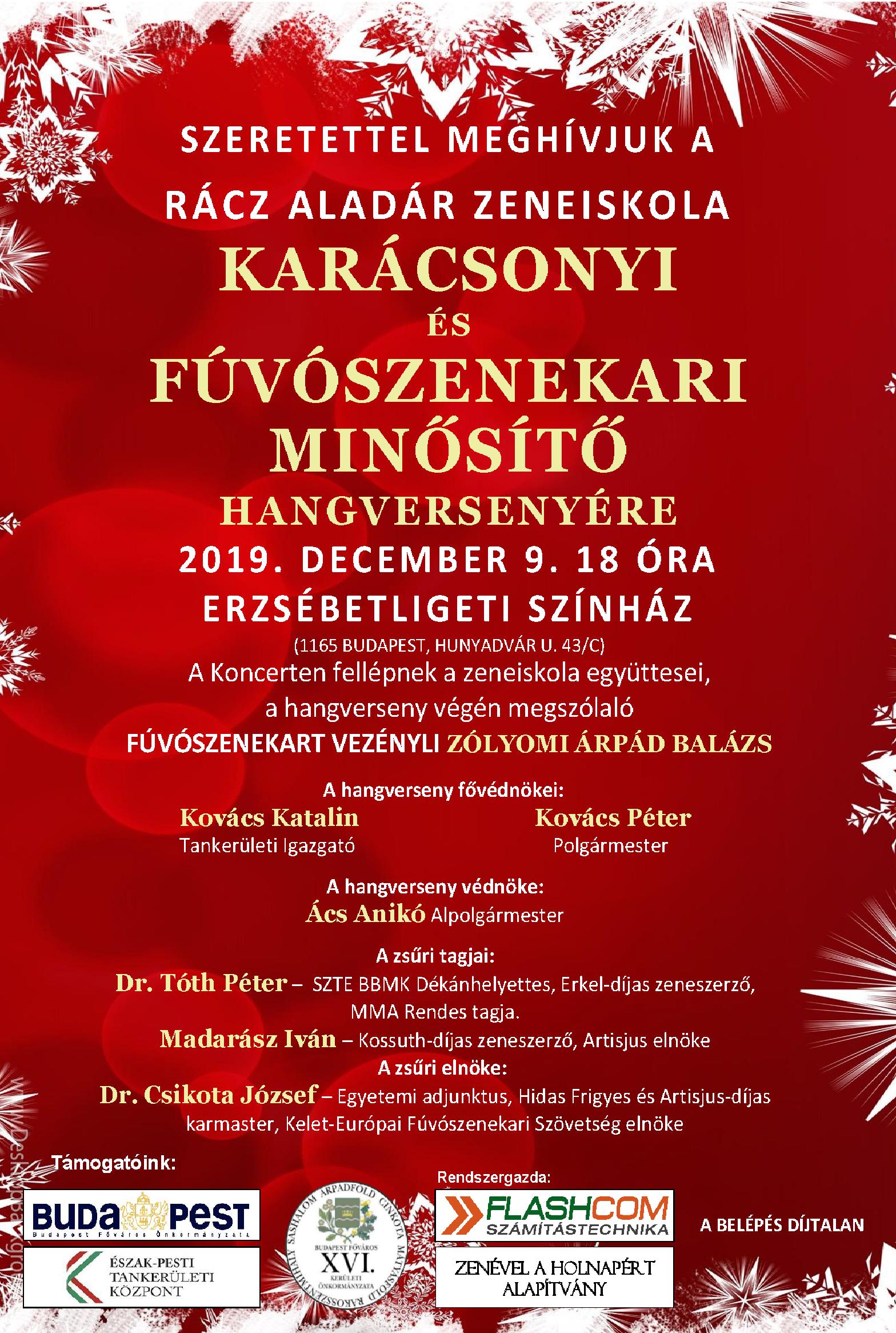 Karácsonyi és Fúvószenekari Minősítő Hangverseny