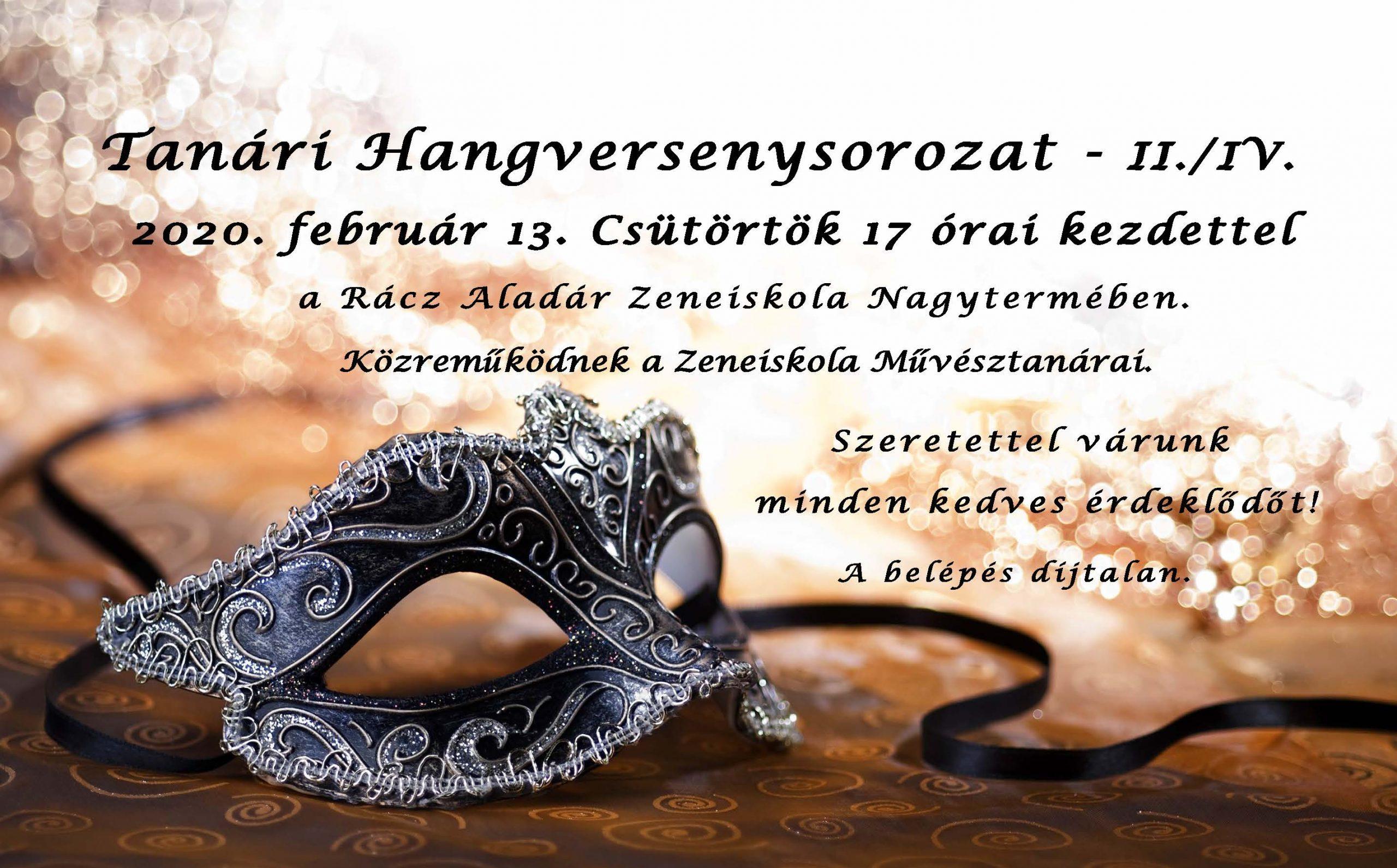 Tanári Hangversenysorozat – II./IV. 2020.02.13 – 17:00