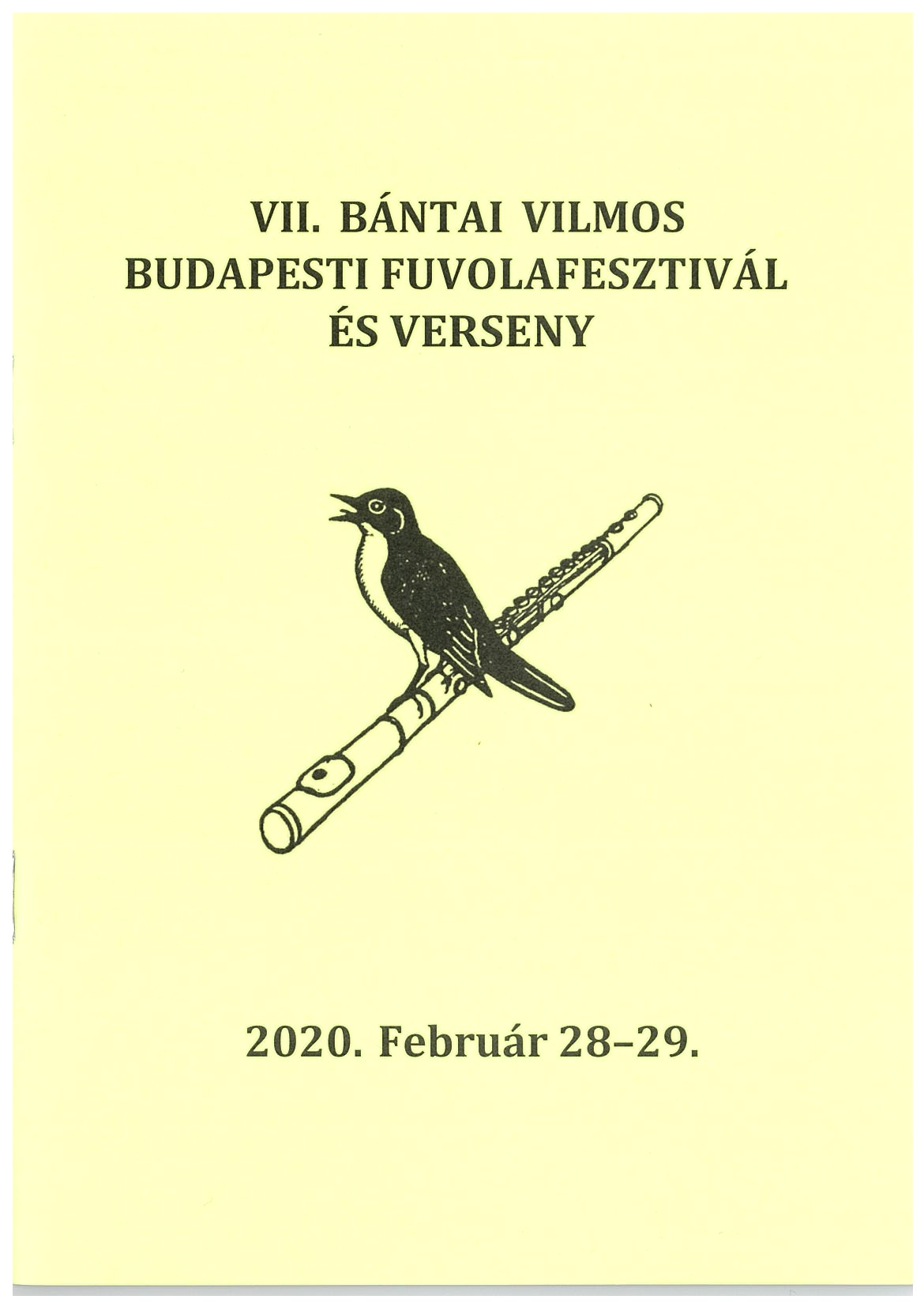 VII. Bántai Vilmos Budapesti Fuvolafesztivál És Verseny