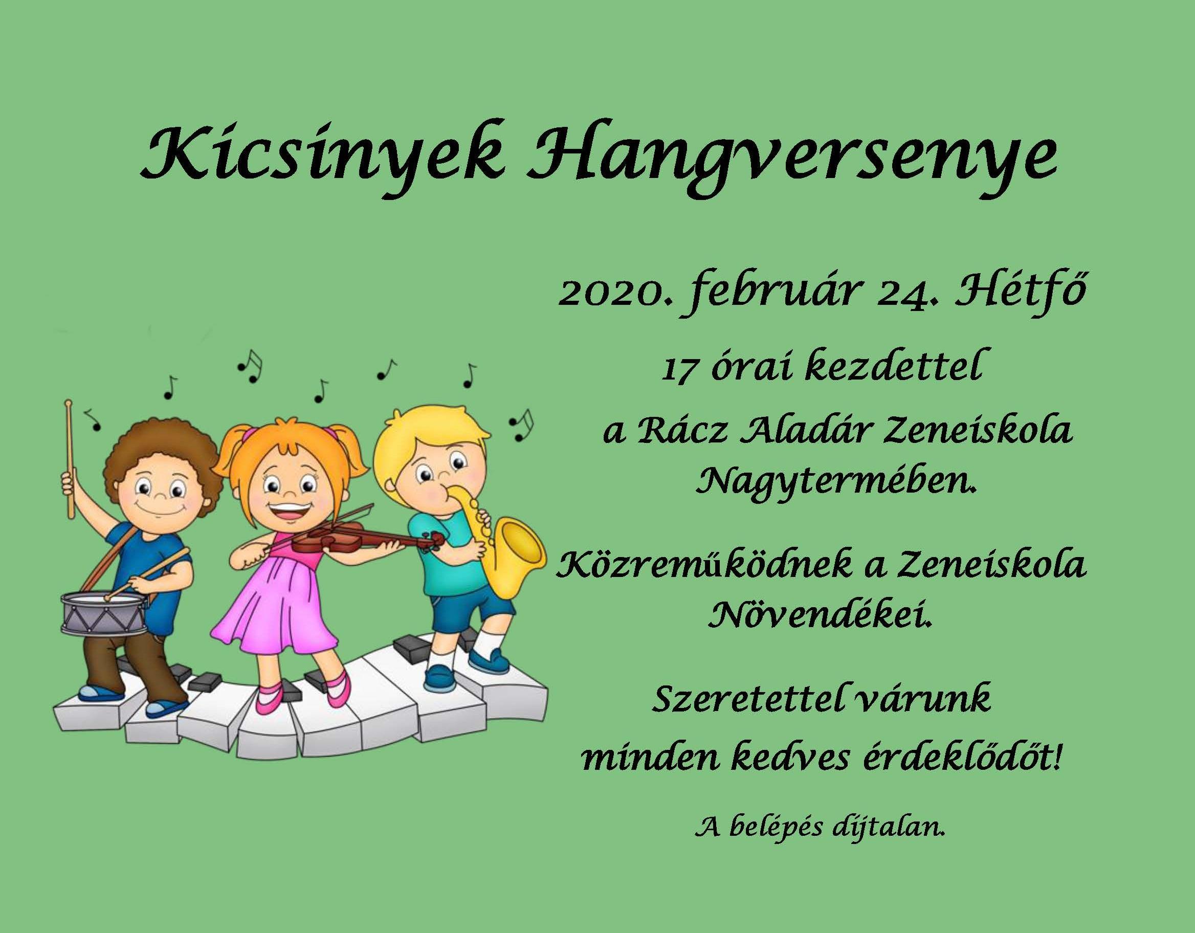 Kicsinyek Hangversenye – 2020.02.24.